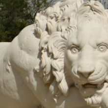 Lions at Base of Obelisk - Private Estate, Oxfordshire